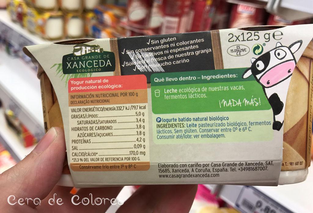 yogur xanceda ingredientes