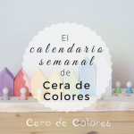 Calendario semanal Cera de Colores