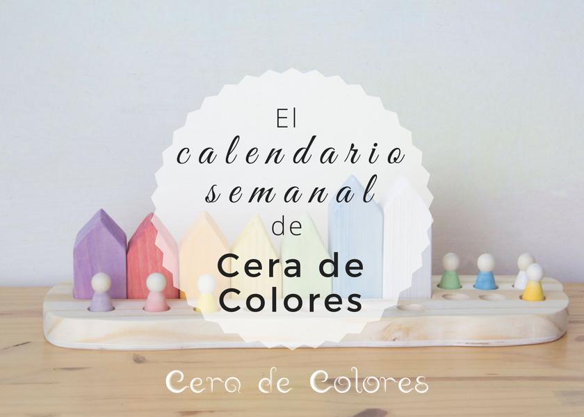 calendario semanal de inspiración waldorf cera de colores