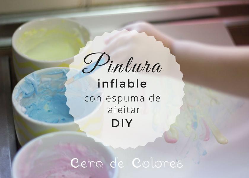 pintura inflable con espuma de afeitar