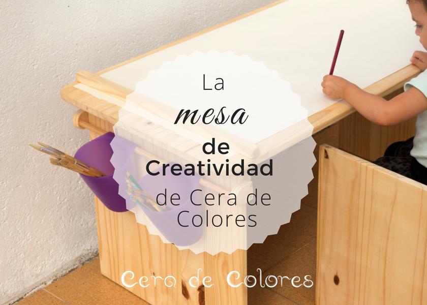 mesa creatividad cera de colores