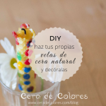 DIY: Velas de cera natural