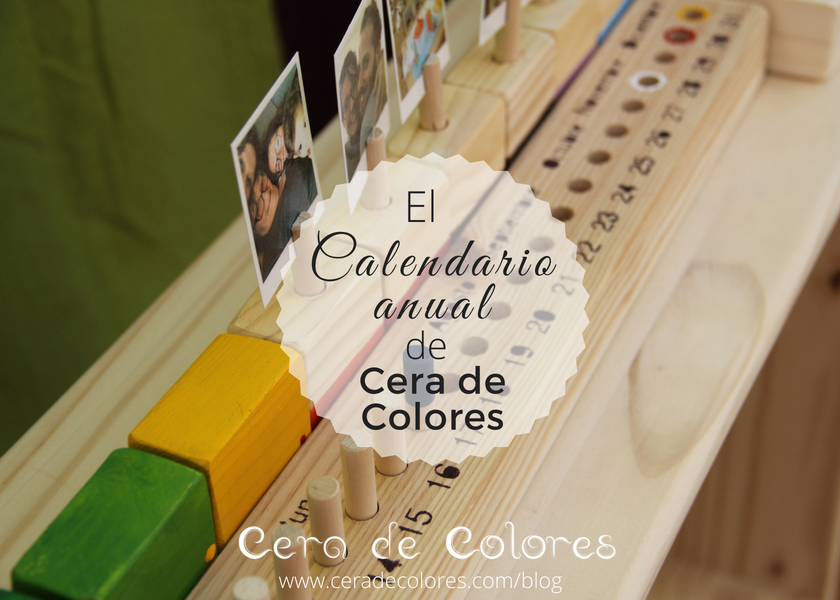 calendario anual cera de colores