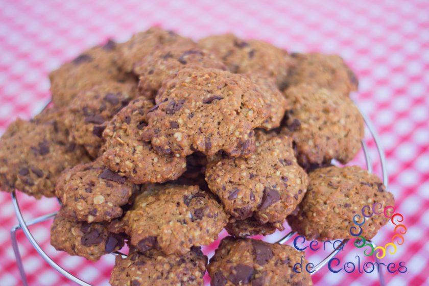 galletas avena y chocolate