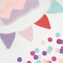 Guirnalda Crochet Rosa +...