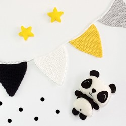 Guirnalda Crochet Negro +...