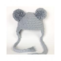 Gorro Pompones Crochet